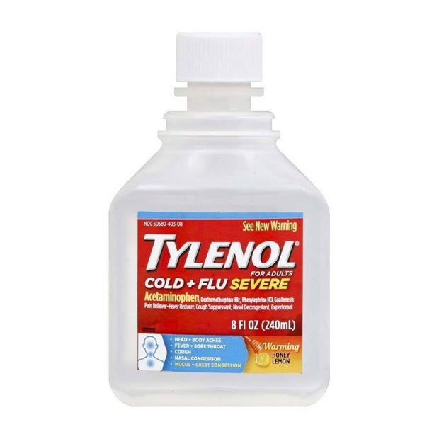 Tylenol Cold + Flu Severe Day Honey Warming Liquid