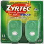 Zyrtec 24 Hour Allergy Relief 10mg Tablets