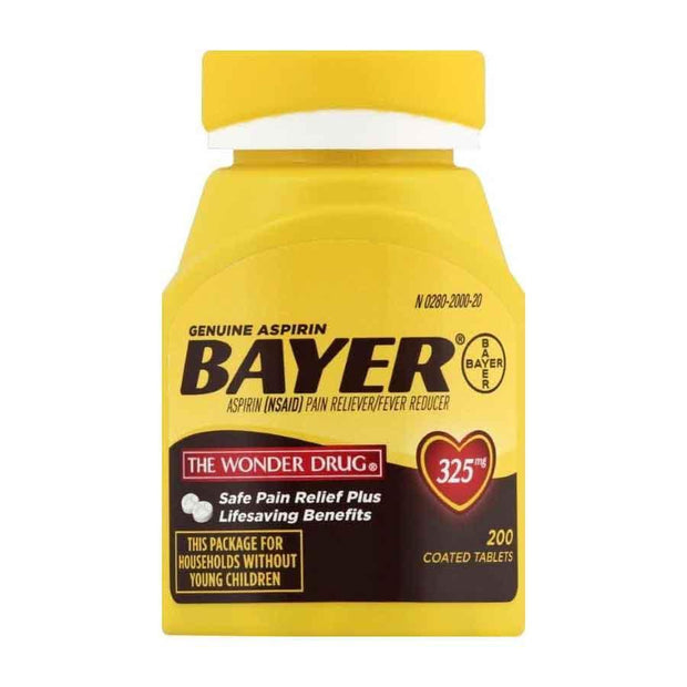 Bayer Genuine Aspirin 325mg Coated Tablets