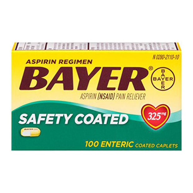 Bayer Aspirin Regular Dose 325mg Safety Coated Tablets