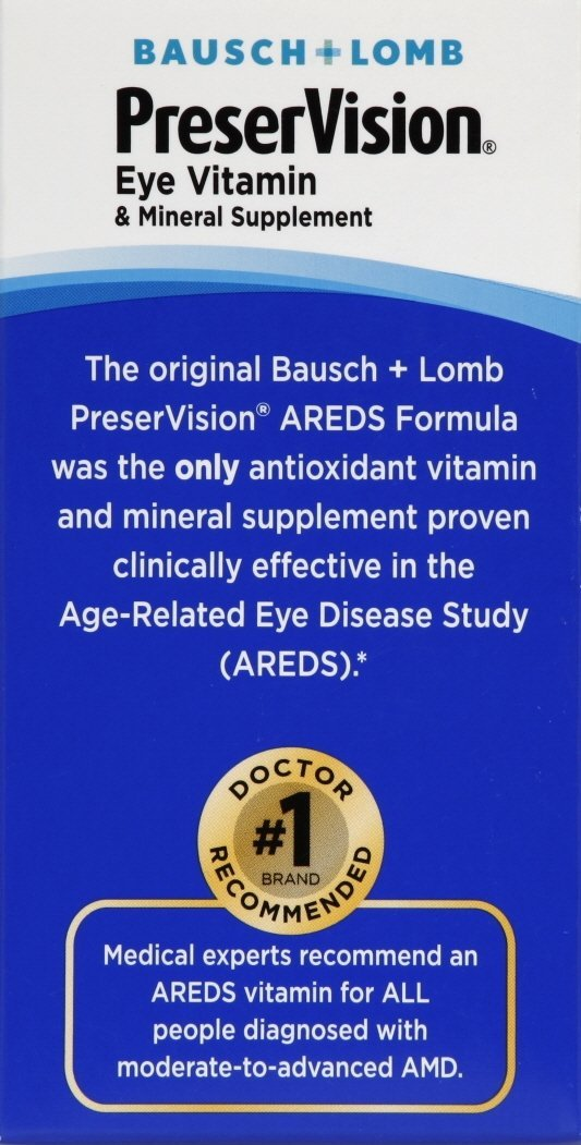 PreserVision Eye Vitamin & Mineral Supplement Areds Tablets