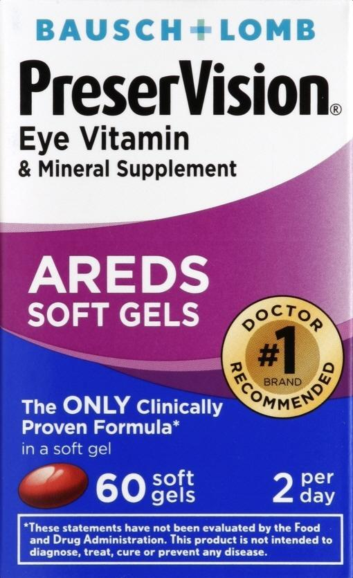 PreserVision Eye Vitamin & Mineral Supplement Areds Softgels