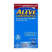 Aleve All Day Strong Pain Reliever/Fever Reducer Naproxen Sodium 220mg Liquid Gels Easy Open Arthritis Cap