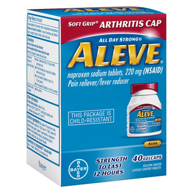 Aleve Easy to Open Arthritis Pain Relief 220mg Gelcaps