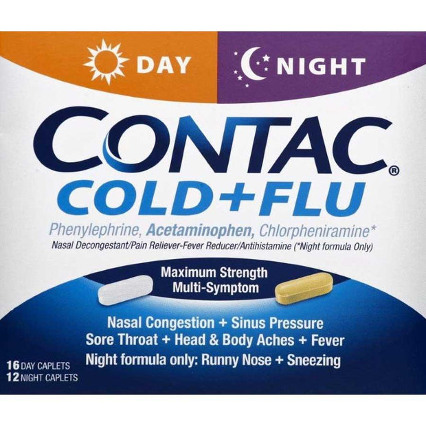 Contac Cold + Flu Day & Night Multi-Symptom Caplets