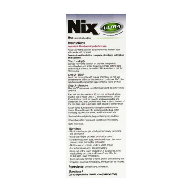 Nix Ultra 2-in-1 Lice Treatment with Comb