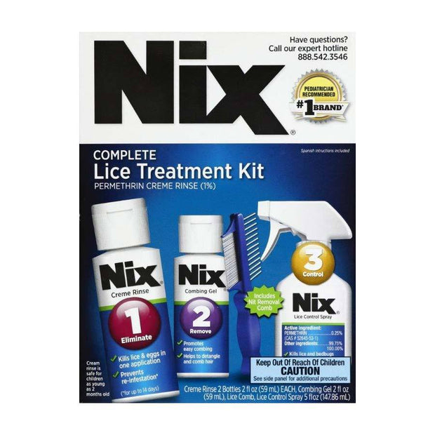 Nix Complete Lice Elimination Kit Plus Spray Bonus Pack