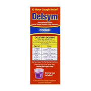 Delsym Adult 12 Hour Cough Suppressant Grape Liquid