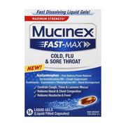 Mucinex Fast-Max Cold, Flu & Sore Throat Liquid Gels