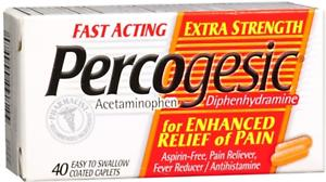 Percogesic Original Strength Fast Acting Pain Relief Tablets