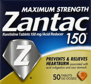 Zantac 150 Heartburn Relief Max Strength Tablets