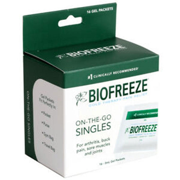 Biofreeze Cold Therapy Pain Relief On-The-Go Gel Packets