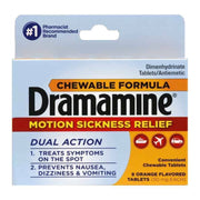 Dramamine Motion Sickness Relief Orange Chewable Tablets