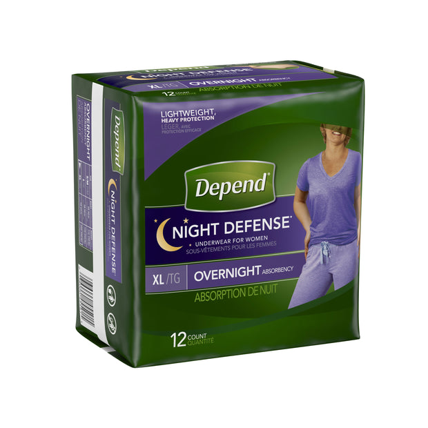 Depend Night Defense Underwear Women's Maximum Absorbency X-Large