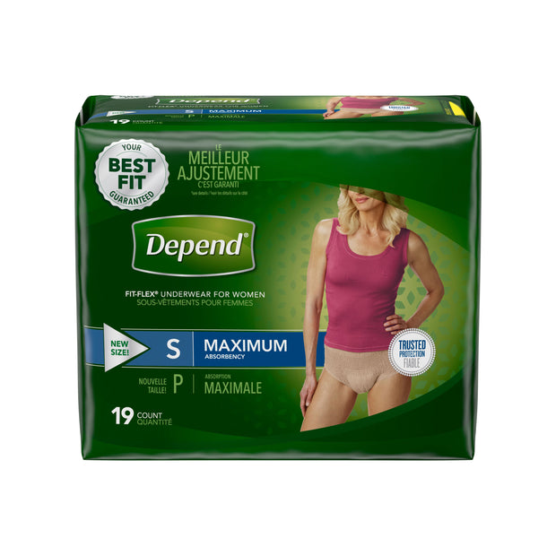 Depend Fit-Flex Briefs Women's Small