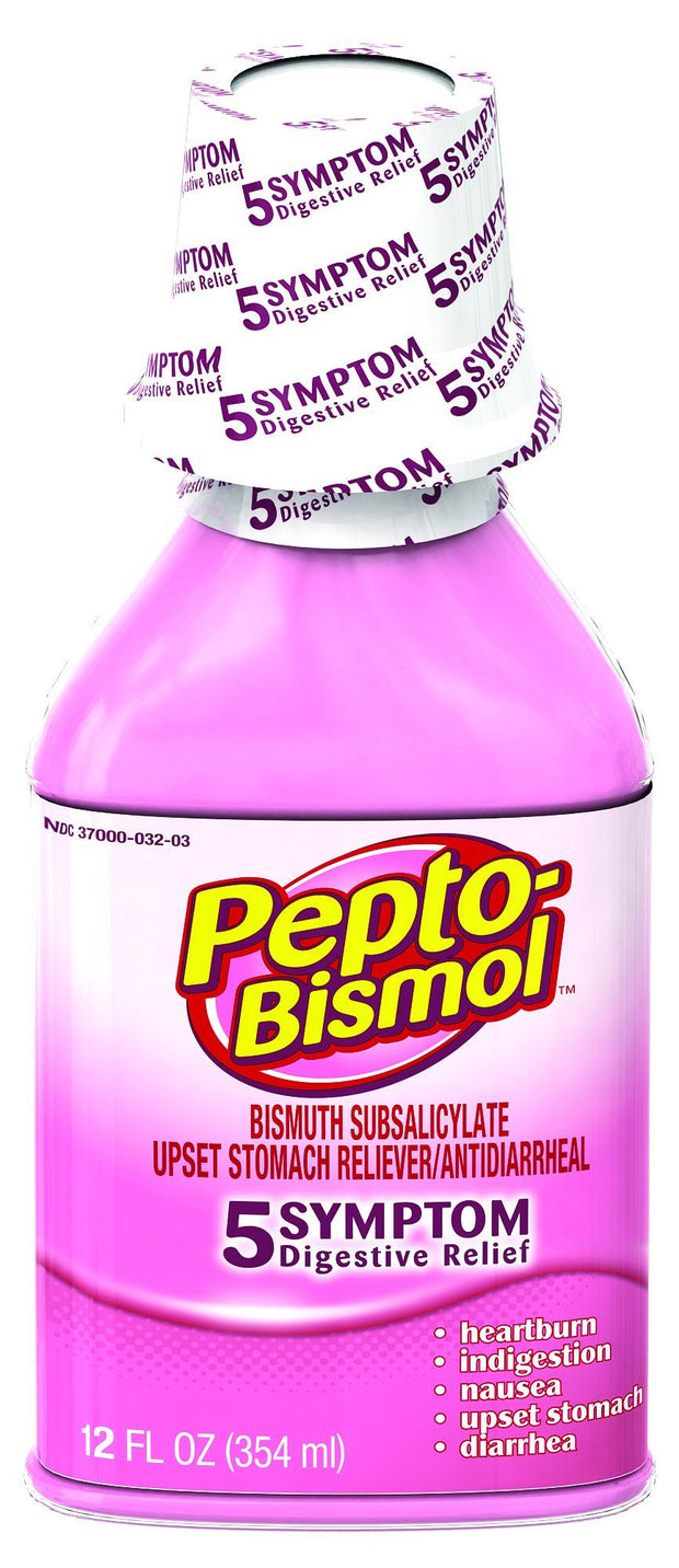 Pepto Bismol Upset Stomach Reliever/Antidiarrheal Original Liquid