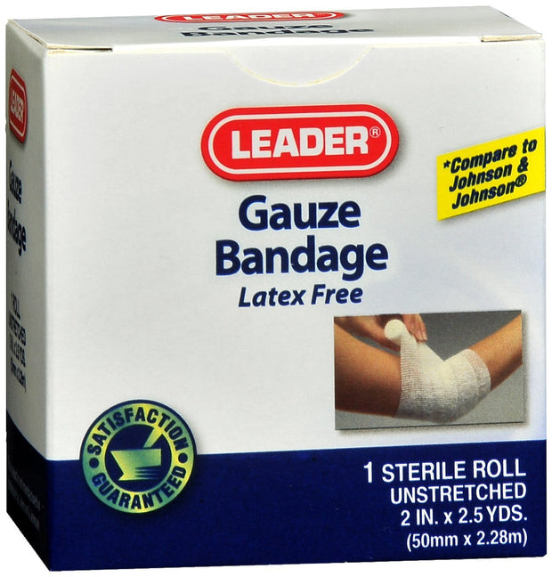 LEADER Gauze Rolled 2 in. x 2.5 yd1 roll