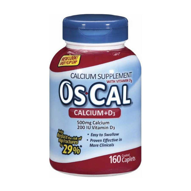 Os-Cal Calcium Supplement +D3 Tablets 160 ct