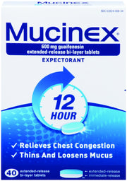 Mucinex 12 Hour Expectorant 600mg Extended Release Bi-Layer Tablets