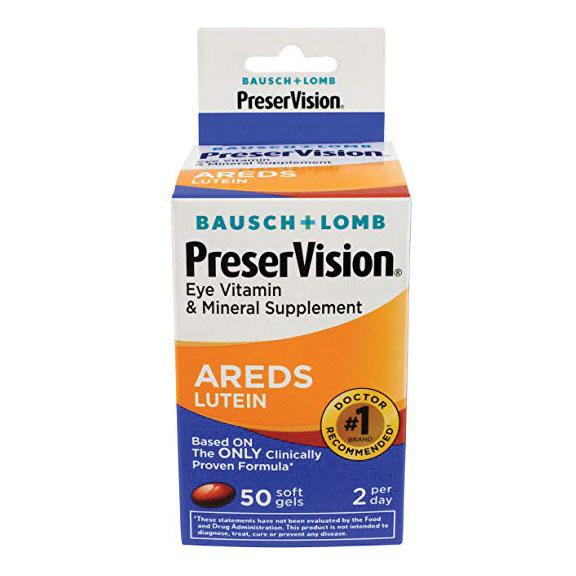 PreserVision Eye Vitamin & Mineral Supplement Areds Lutein Softgels