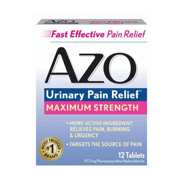Azo Urinary Pain Relief Max Strength Tablets 12 ct