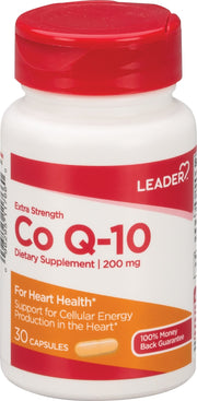 LEADER CoQ-10 200mg Capsules 30 ct