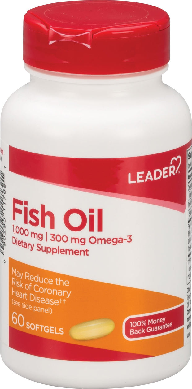 LEADER Fish Oil 1000mg Softgels