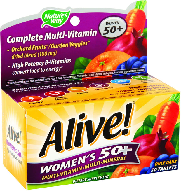 Nature's Way Alive! Women's 50+ Multivitamin Tablets 50 ct