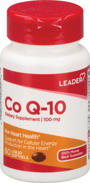 LEADER CoQ-10 100mg Softgels 60 ct