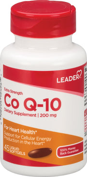 LEADER CoQ-10 200mg Softgels 45 ct
