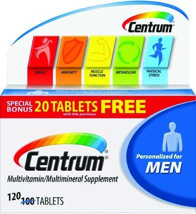 Centrum Men Multivitamin/Multimineral Tablets 120 ct