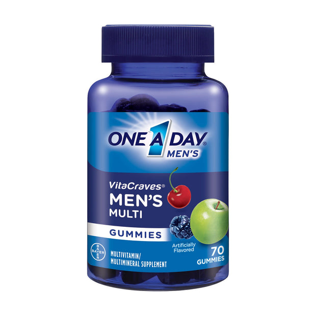 One-A-Day Vitacraves Men's Multi Gummies 70 ct