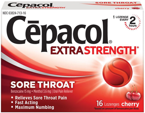Cepacol Sore Throat Lozenges Cherry 16 ct