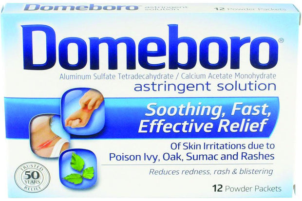 Domeboro Astringent Solution Powder Packets 12 ct