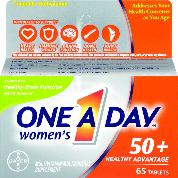 One-A-Day Women's 50+ Multivitamin/Multimineral Tablets 65 ct