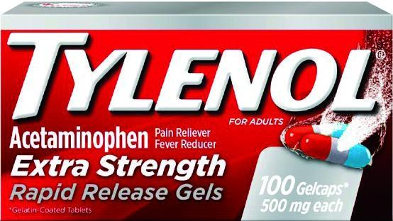 Tylenol Extra Strength Pain Reliever/Fever Reducer 500mg Rapid Release Gels