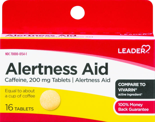 LEADER Alertness Aid 200mg Tablets 16 ct
