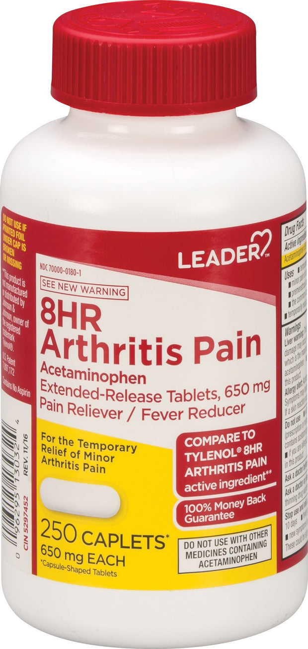 LEADER Arthritis Pain 8 Hour 650mg Caplets