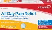 LEADER All Day Pain Relief Naproxen Sodium 220mg Tablets