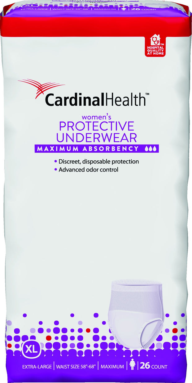 Cardinal Health Women's Protective Underwear Max Absorbency X-Large