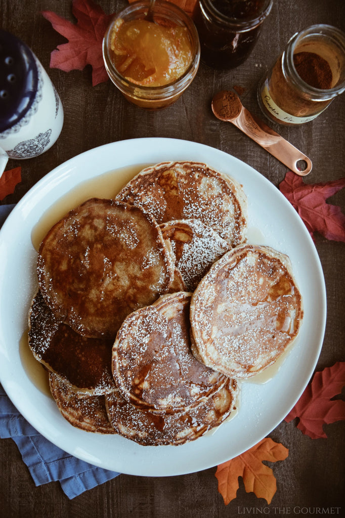 Diner Style Pancakes with Pumpkin Spice Maple Syrup with Catherine