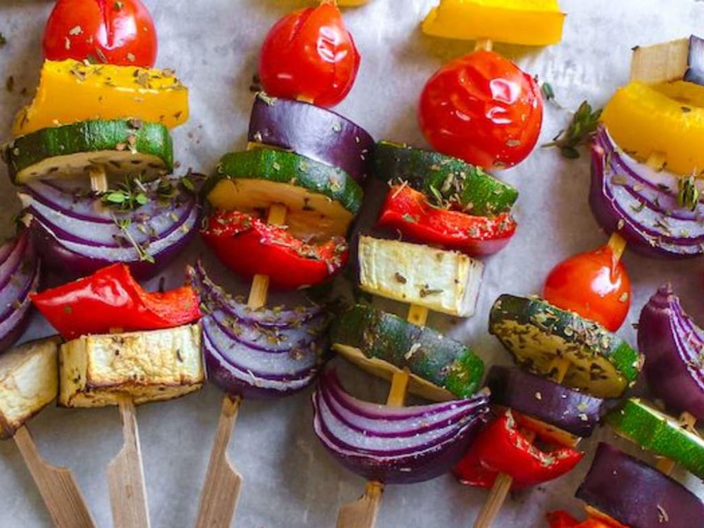Celebrate The Sunny Weather With This Lemon-And-Herb Vegetable Skewers Recipe