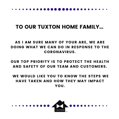 Tuxton Home COVID-19 Message