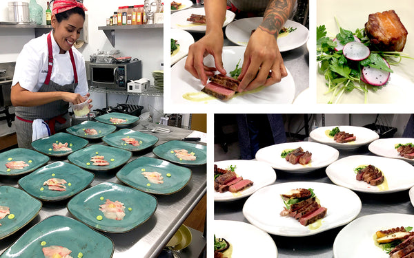 Chef Liz Plates on Tuxton Home Artisan Dinnerware