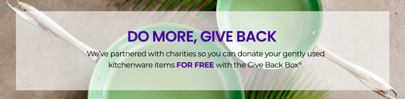 Tuxton Home x Give Back Box: Do More, Give Back Banner