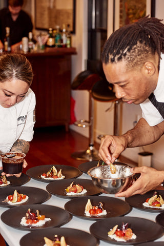 DTLA Dinner Club Chef Jason Fullilove and Chef Samantha Deleon