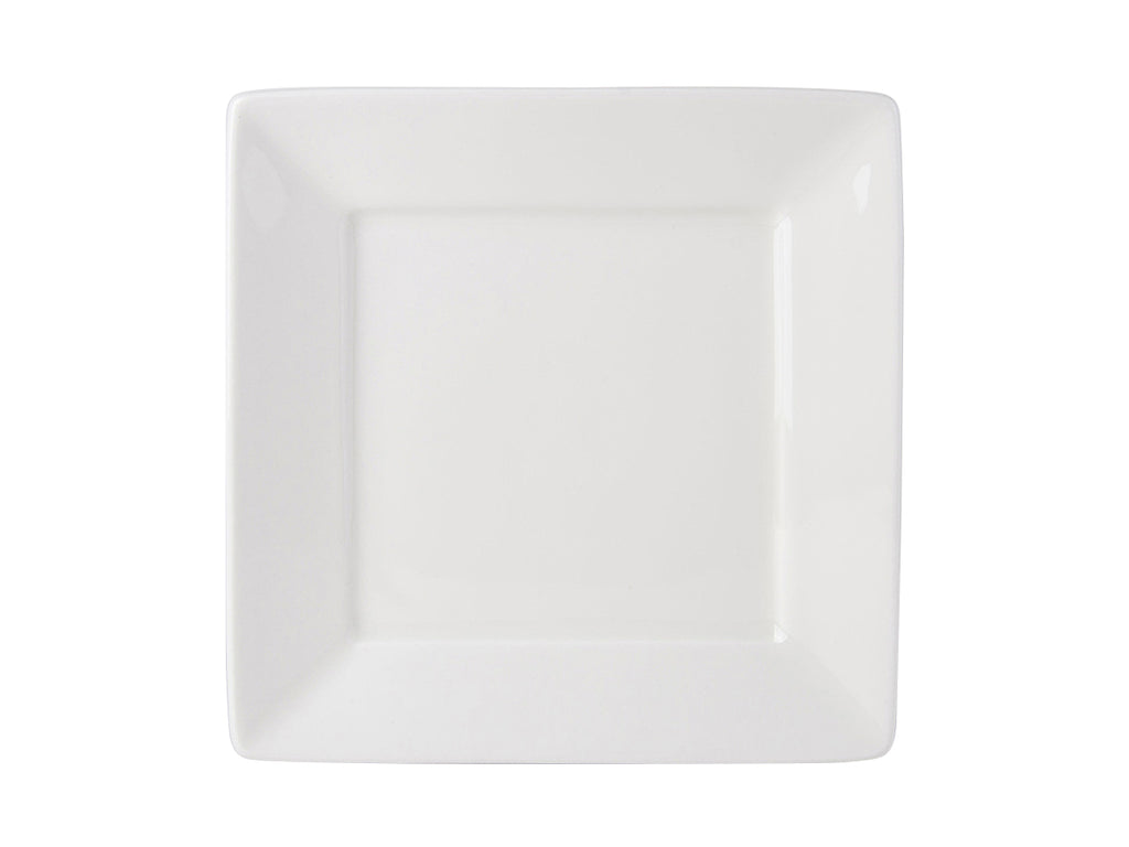 "Napa Square Plate 8-1/2"" - Pearl White (Pack of 12)"