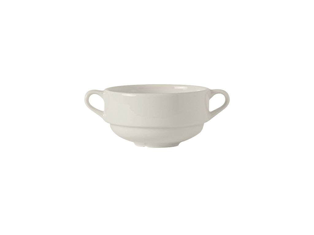 Modena Soup Cup w/Handles 10-1/2oz - Pearl White (Pack of 24)