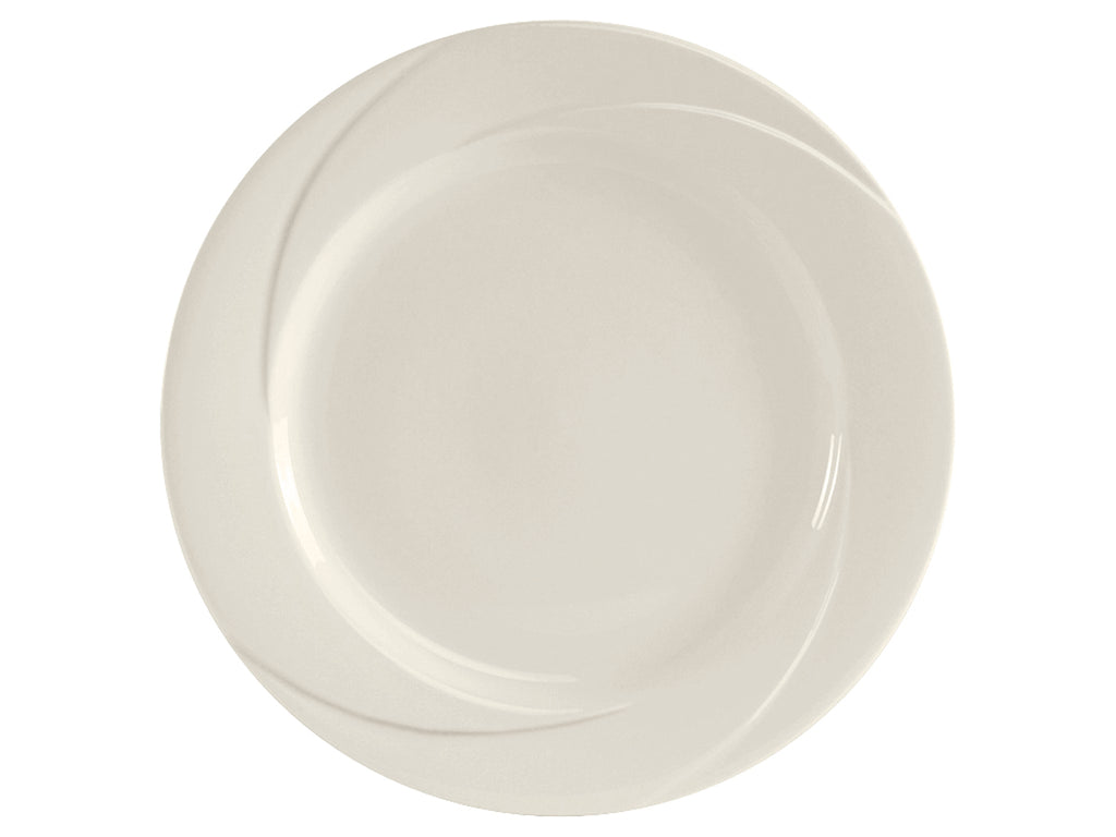 "San Marino AlumaTux Plate 11-5/8"" - Pearl White Embossed (Pack of 12)"