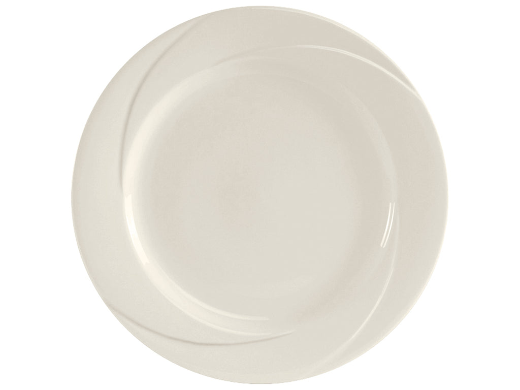 "San Marino AlumaTux Plate 12-1/2"" - Pearl White Embossed (Pack of 12)"